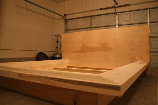 Platform bed frame / headboard